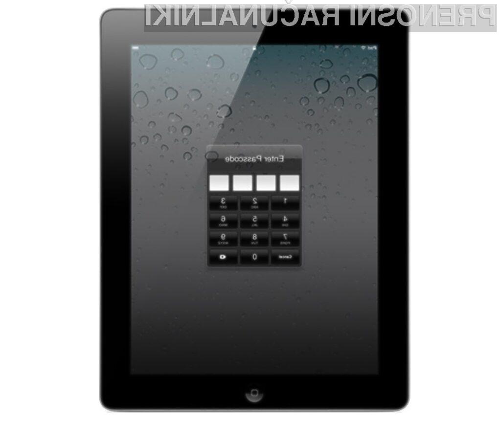 Mobilni operacijski sistem iOS 5 predstavlja za uporabnike tablice iPad 2 resno varnostno grožnjo.