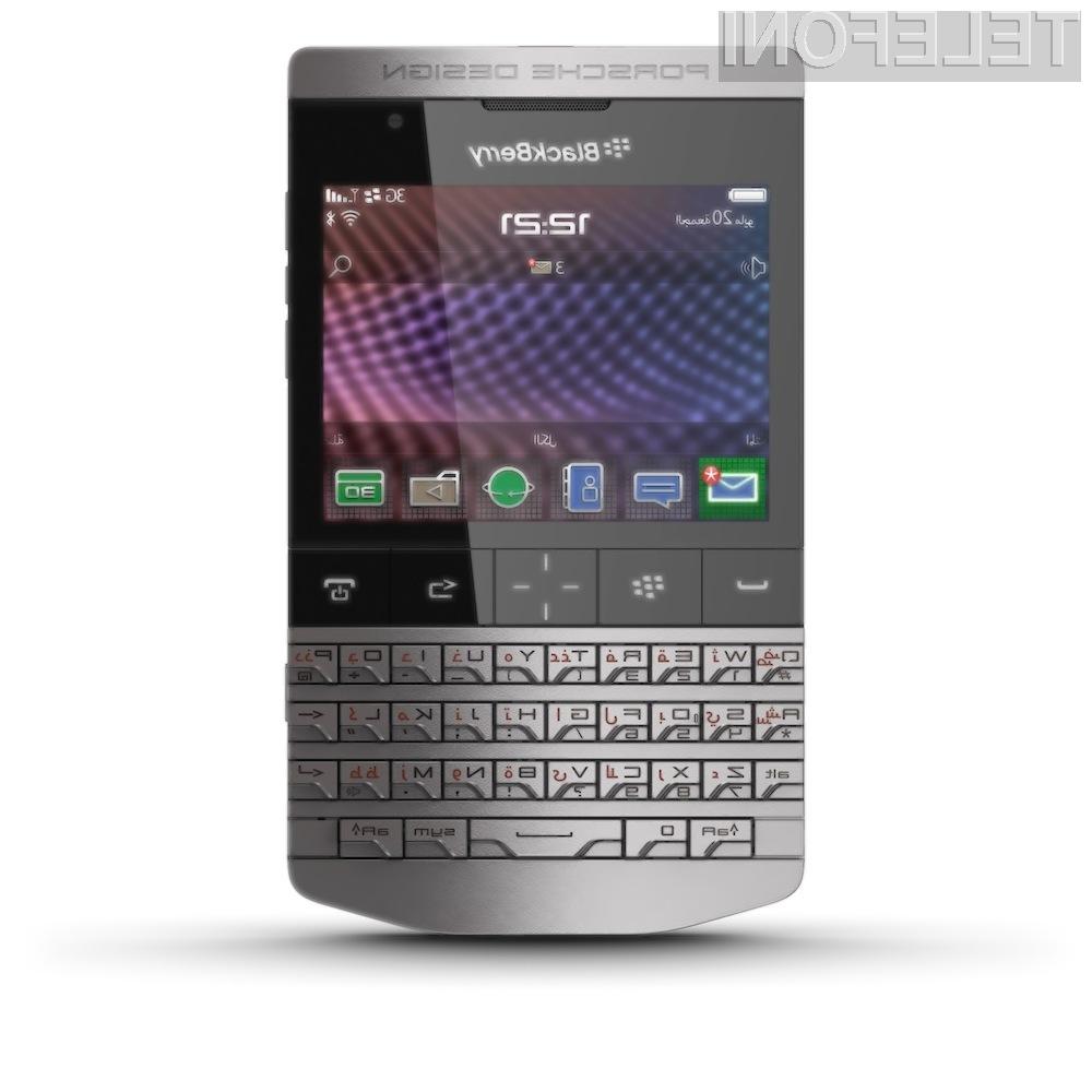 RIM in Porsche Design sta predstavila luksuzni model pametnega telefona BlackBerry, ki je izdelan iz jekla in usnja.