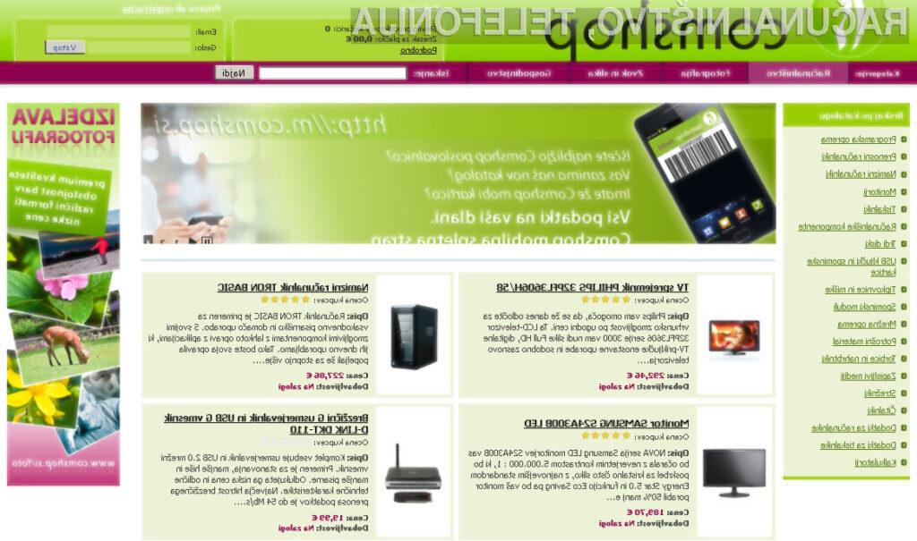 Na novi spletni strani ponujajo vse s področja računalništva, fotografije, zvoka in slike.
