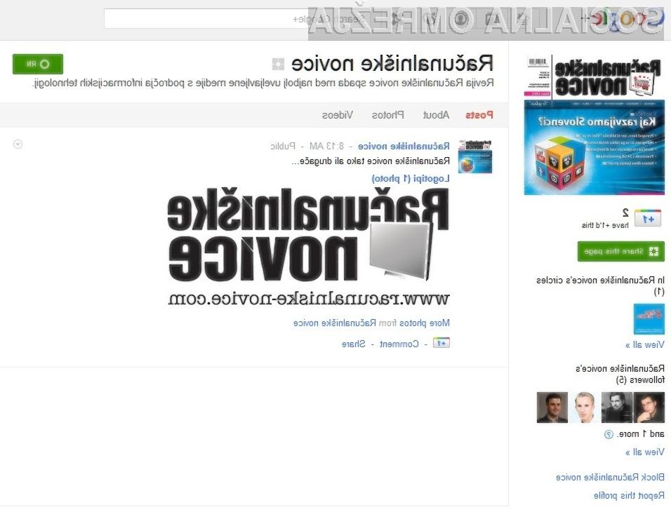Računalniške novice obožujejo Google+ Pages!