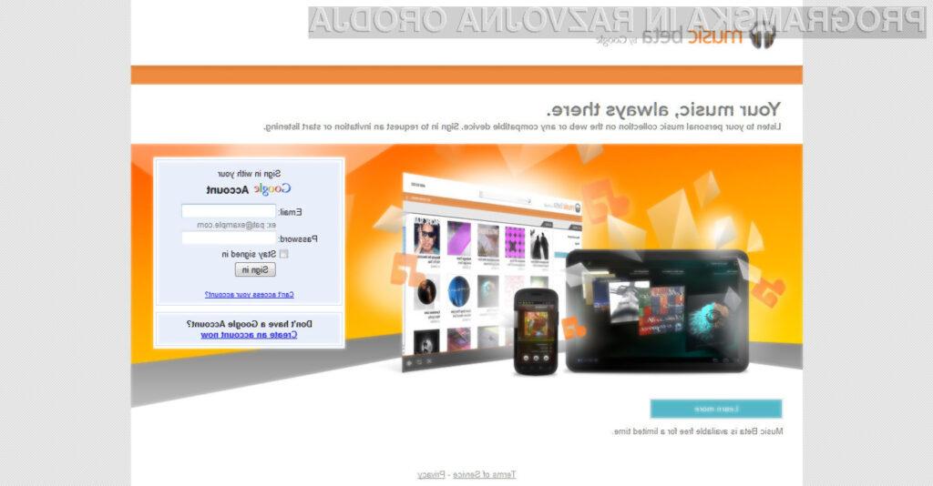 Google je včeraj tudi uradno predstavil končno različico svoje glasbene storitve Google Music.