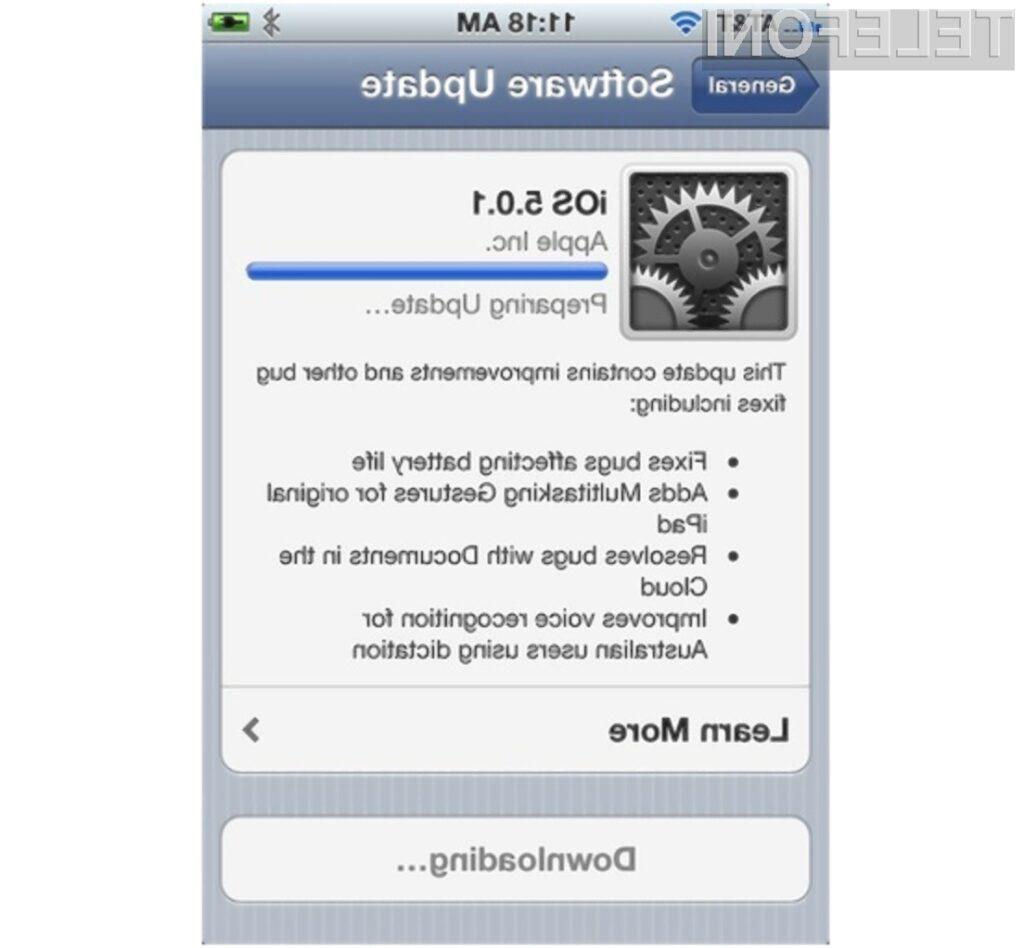 Mobilni operacijski sistem iOS 5 naj bi dokončno odpravil težave z baterijo.
