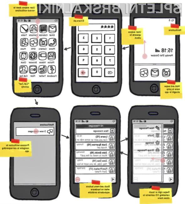 Prvi grafični vmesnik Mozillinega mobilnega operacijskega sistema.