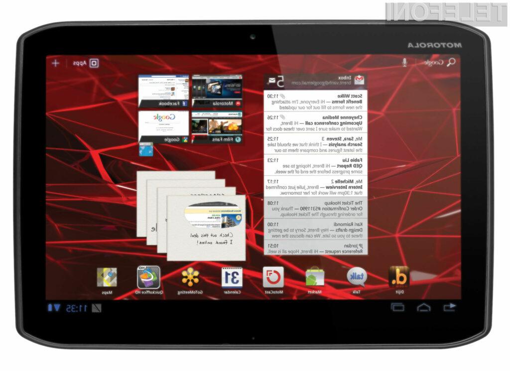 Tablico Xoom 2 poganja1,2-gigaherčni procesor in operacijski sistem Android 3,2 Honeycomb.