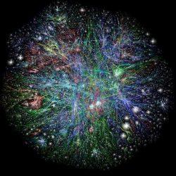Zemljevid interneta - analiza takih povezav potrebuje izjemne količine pomnilnika saj je postopek težko paralelizirati