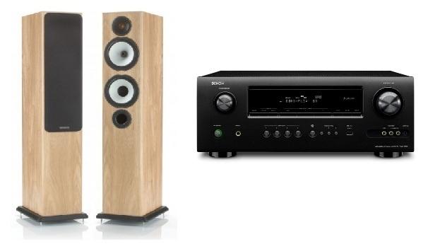 Denon AVR-1912 in Monitor Audio BX5