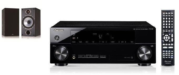 Pioneer VSX-520 in Monitor Audio M2