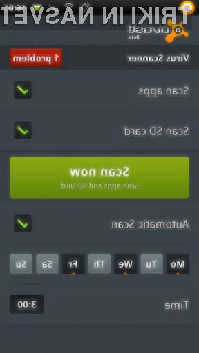 Avast Mobile Security razpolaga z varnostnimi orodji, ki nam omogočajo brezskrbno uporabo mobilnika Andorid.
