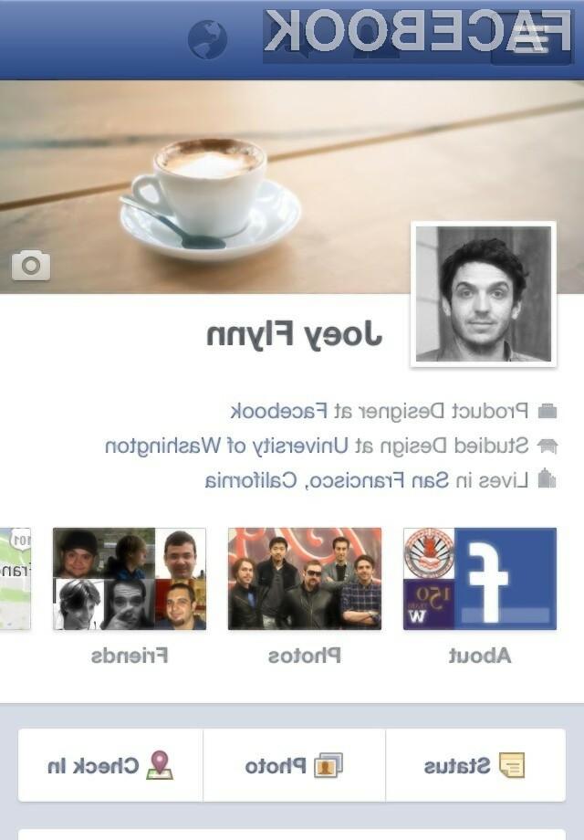 Timeline je od zdaj naprej na voljo tudi za Android in na m.facebook.com, najbolj presenetljiva značilnost pa je predvsem glavna oz. naslovna slika