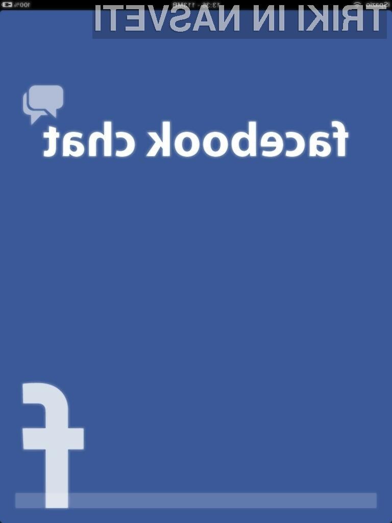 Od zdaj naprej bo Facebook uporabnikom omogočal, da bodo znotraj klepeta lahko vnašali tudi profilne slike.