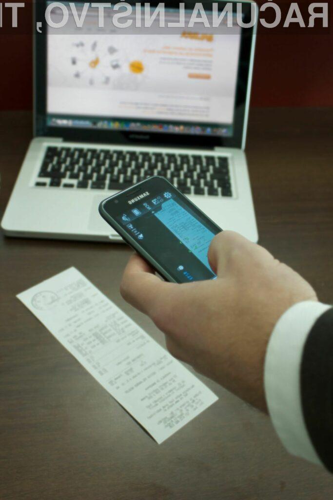 Preprost zajem vhodnih računov kar z mobilnim telefonom.