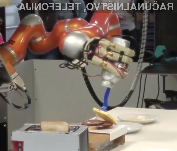 A ne bi bilo lepo imeti robotskega kuharskega pomočnika za pripravo pokovke in sendvičev?