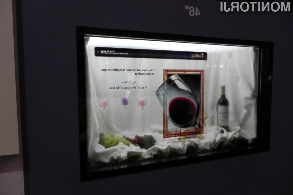 Samsung je s proizvodnjo 46-palčnega prozornega LCD panela, napovedal širitev trga prozornih zaslonov.