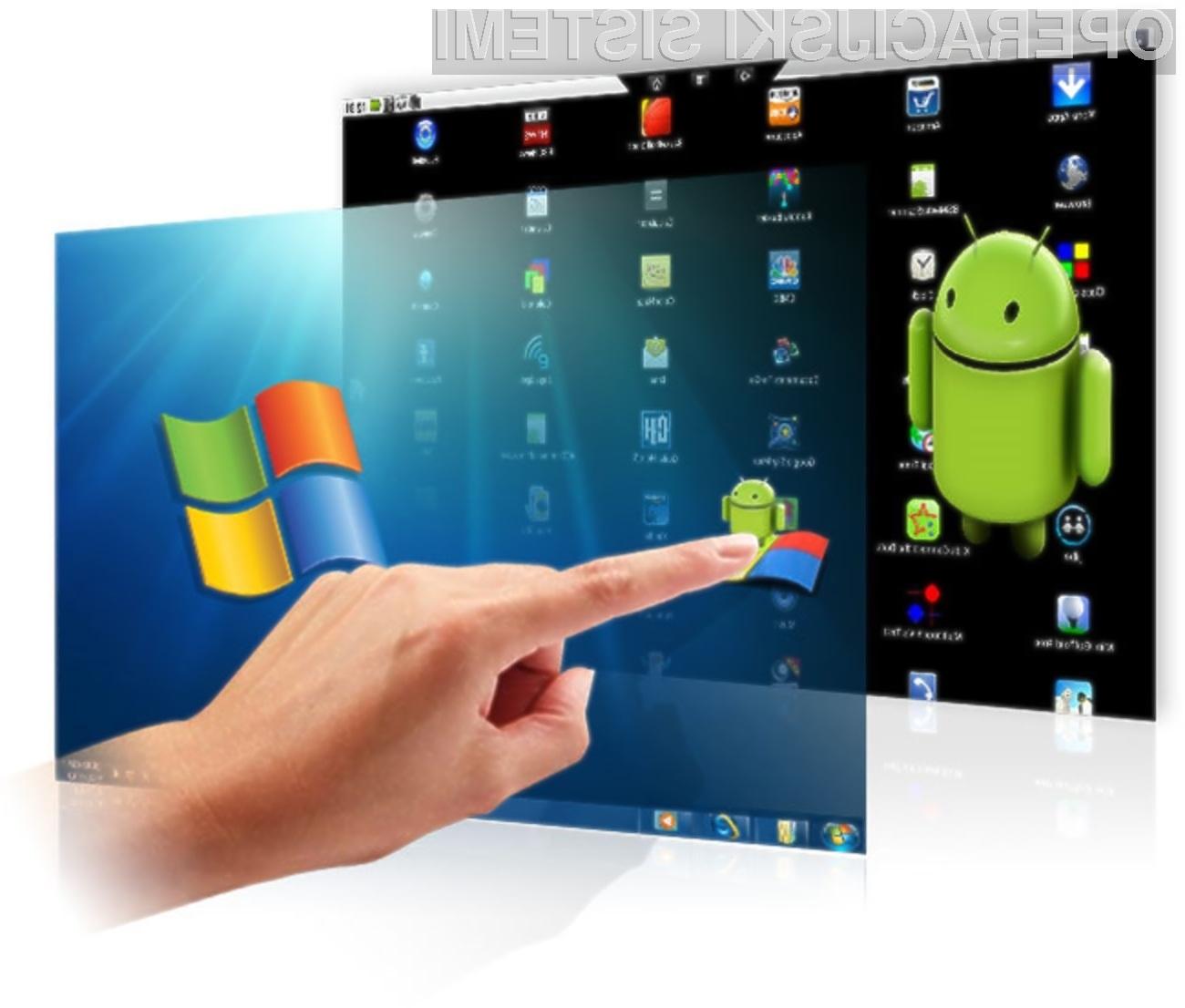 Aplikacije za Android bomo lahko brez večji težav poganjali na v operacijskem sistemu Windows 8.