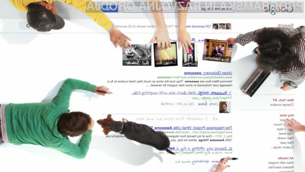 Googlov iskalnik bo iskal tisto, kaj je všeč vam in vašim prijateljem.