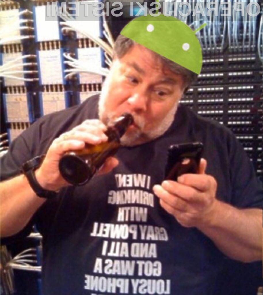 Soustanovitelja Appla Steve Wozniak obožuje Android!