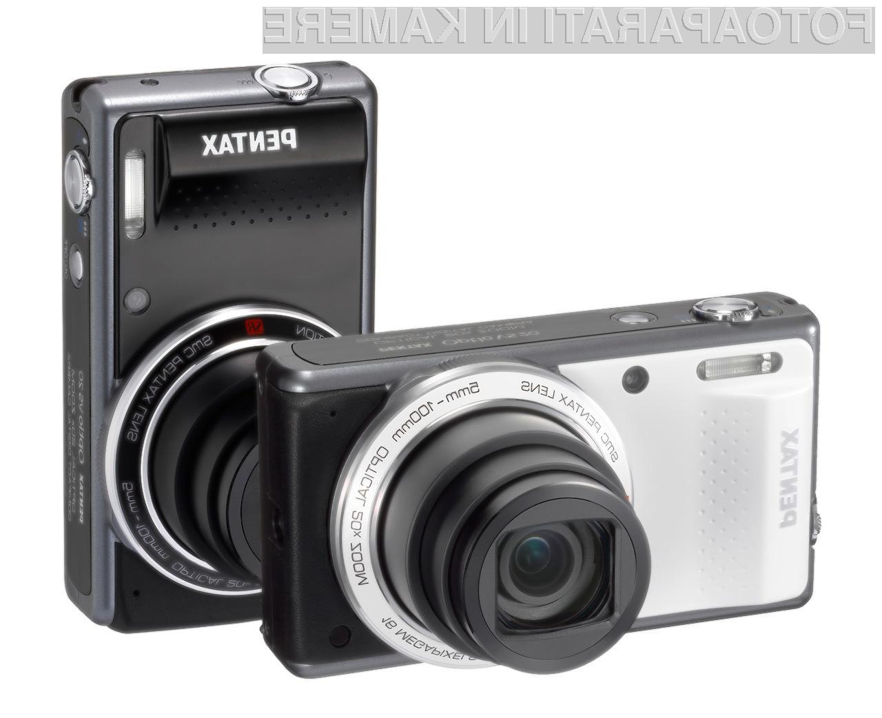 Pentaxov Optio VS20 se lahko pohvali z 20x optično povezavo ter slikovnim senzorjem resolucije 16 milijonov slikovnih točk.