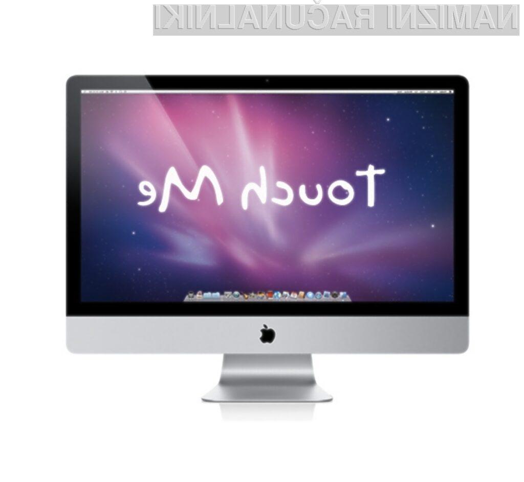 Apple naj bi z na dotik občutljivimi zasloni kmalu opremil osebne računalnike iMac.