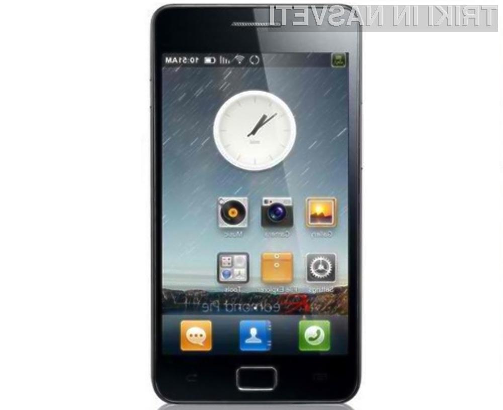 Mobilnik Samsung Galaxy S2 se odlično počuti s prirejenim mobilnim operacijskim sistemom Android 4.0.3.