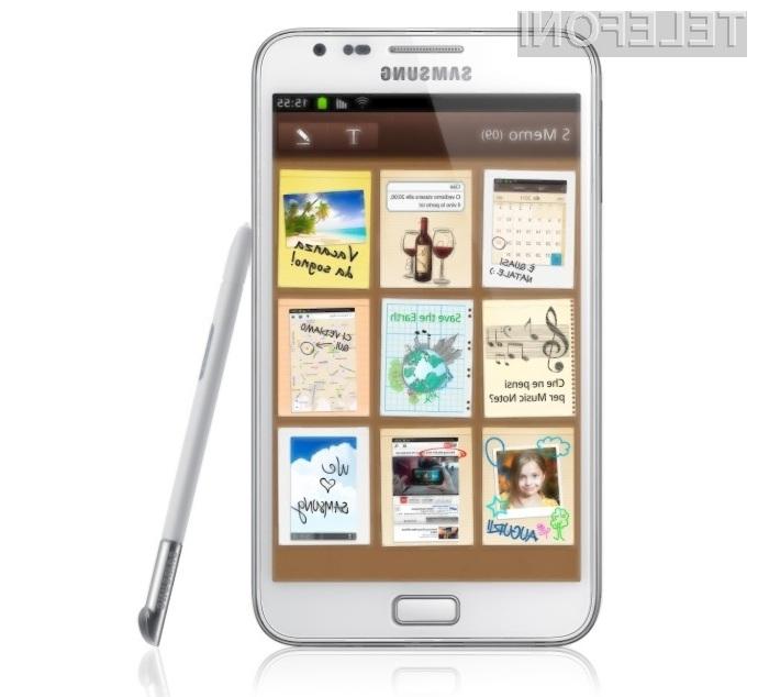 Boste vašo boljšo polovico razveselili z mobilnikom Galaxy Note White?