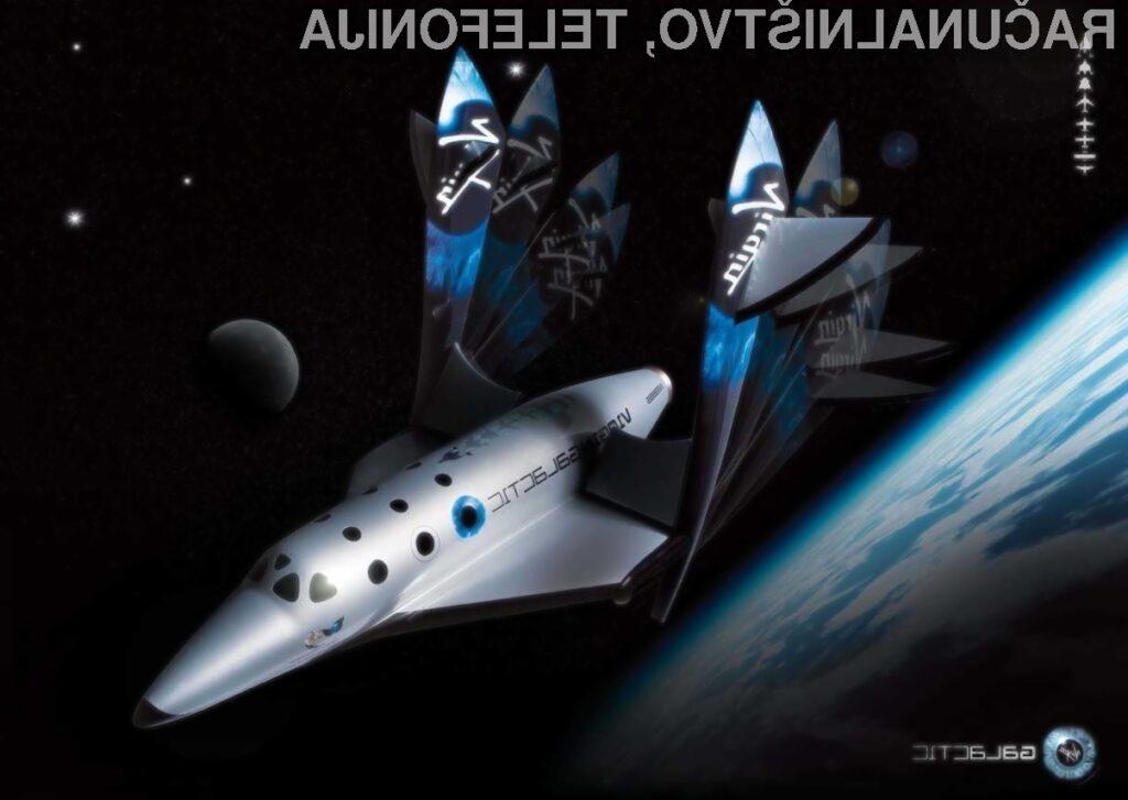 Pri Virgin Galacticu prve turistične polete načrtujejo že v letu 2013.