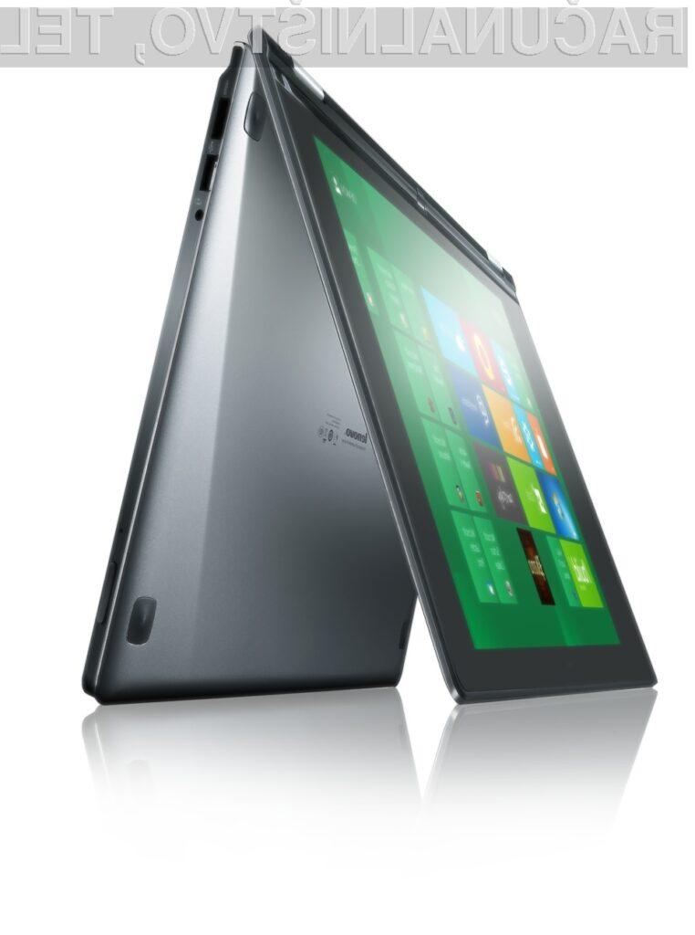 Vsestranski prenosnik IdeaPad YOGA bo na voljo v drugi polovici leta 2012.