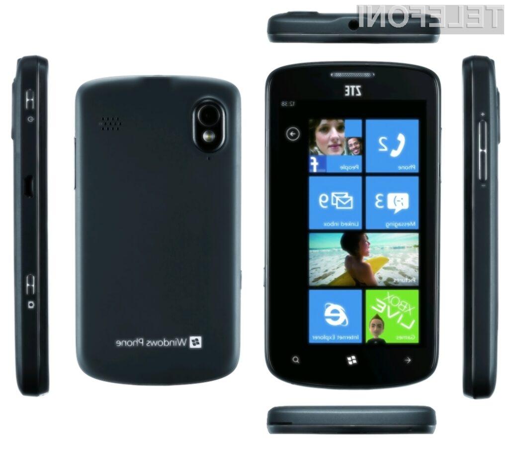ZTE Tania, ki deluje na operacijskem sistemu Windows Phone 7.5, bo odslej na voljo tudi v barvni različici za moške.