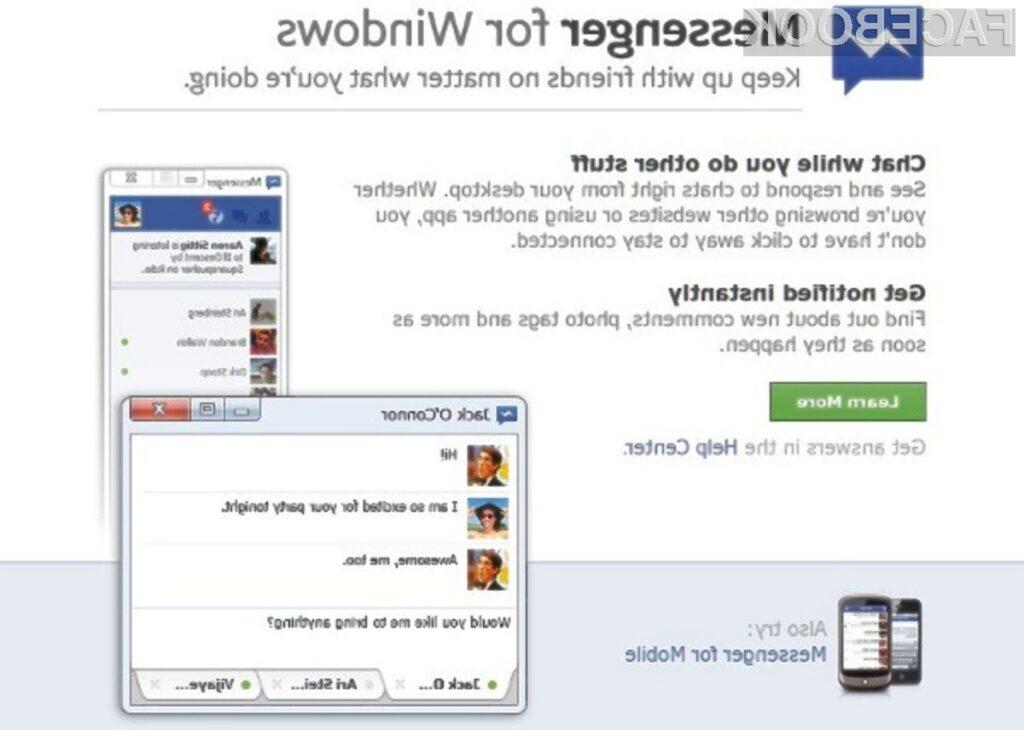 Sporočilni sistem Facebook Messenger bo precej poenostavil komunikacijo z našimi prijatelji!