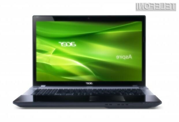 Model V3 po obliki sovpada z Acerjevo serijo prenosnikov Aspire TimelineX.