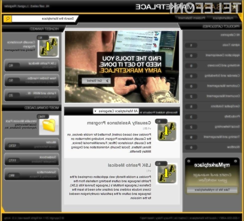 Army Marketplace bo vojakom omogočil lažje izobraževanje.