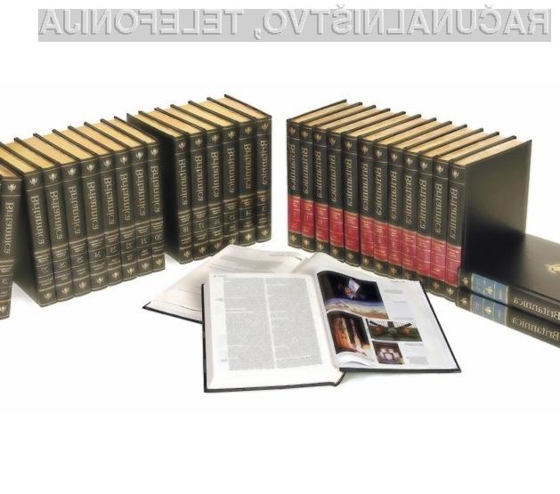 Microsoft je z izdajo e-enciklopedije povzročil začetek konca tiskane izdaje Enciklopedija Britannica!