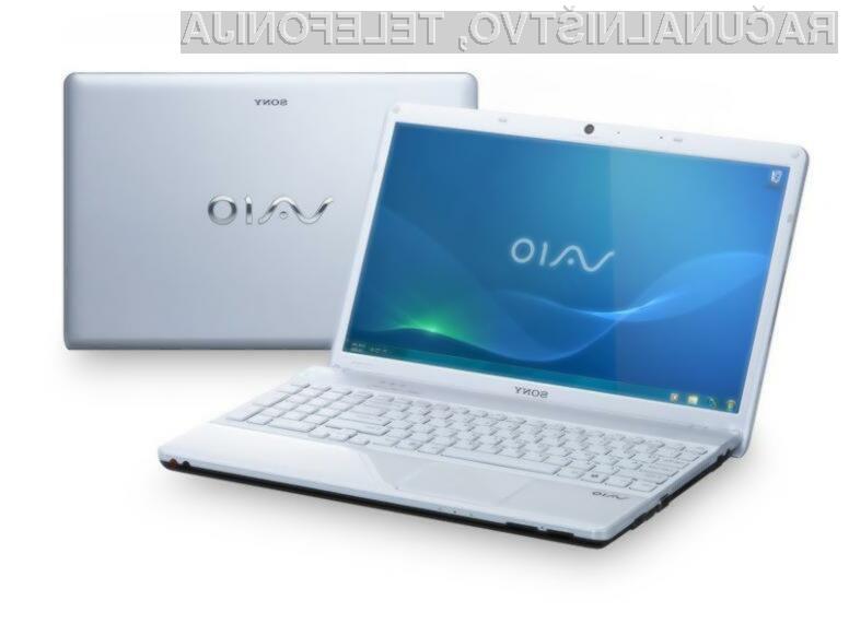 Potegujte se za mega prenosnik Sony Vaio!