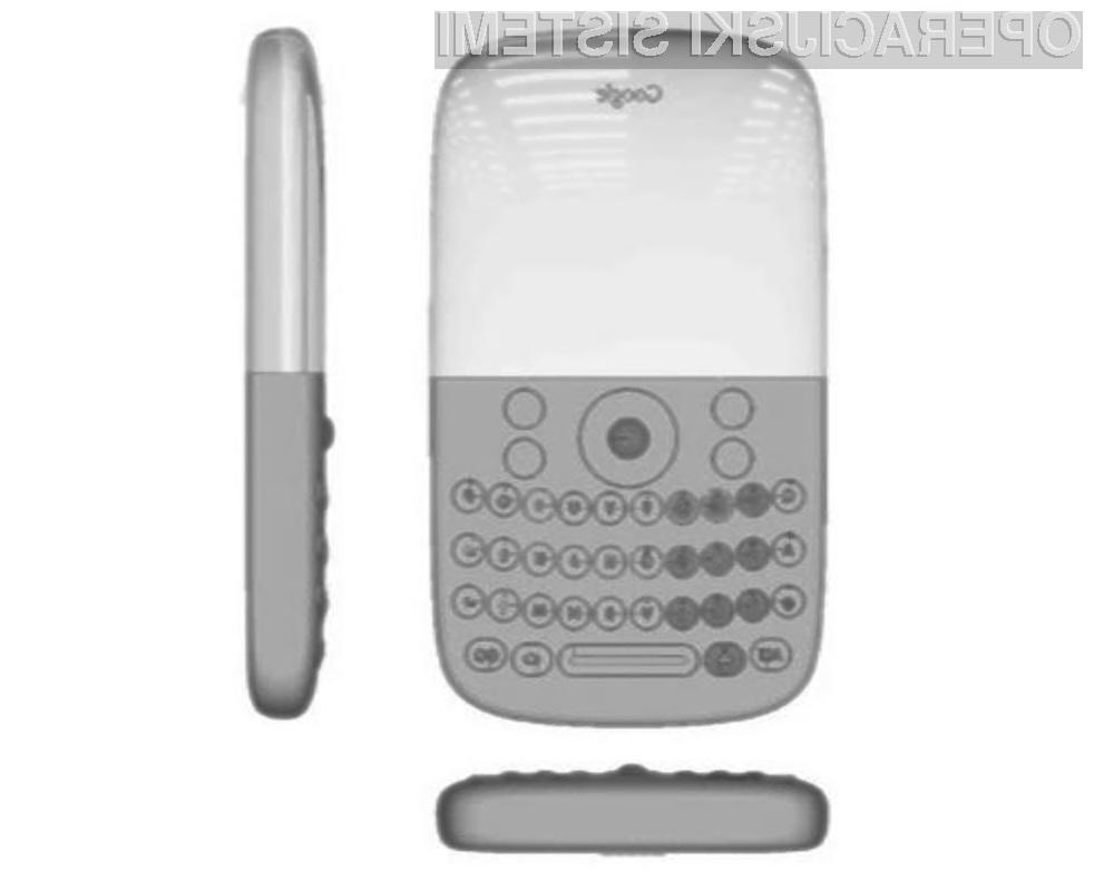 Računalniški prototip prvega Googlovega pametnega mobilnega telefona Android.