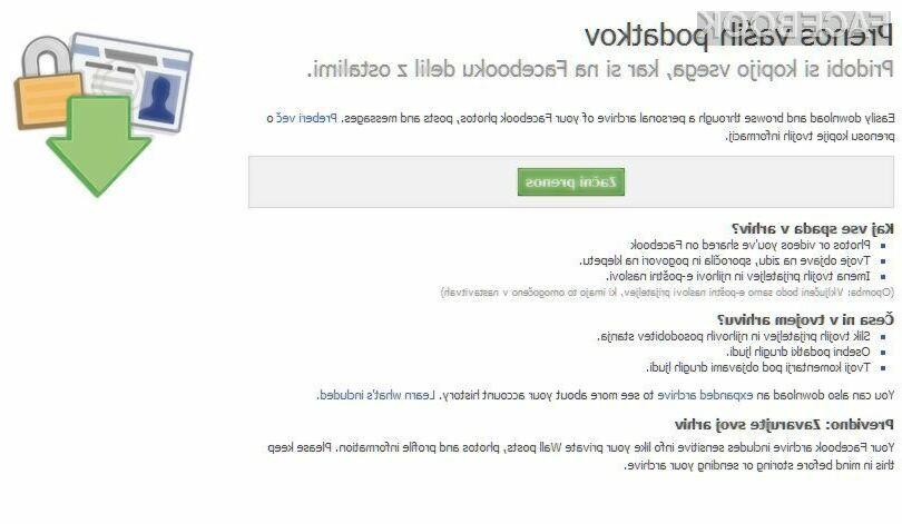 Presenečeni boste nad tem, kaj vse Facebook hrani o vas!
