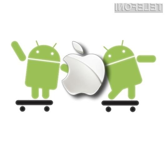 Applov mobilni operacijski sistem iOS podjetju Google prinaša zajetne kupe denarja.