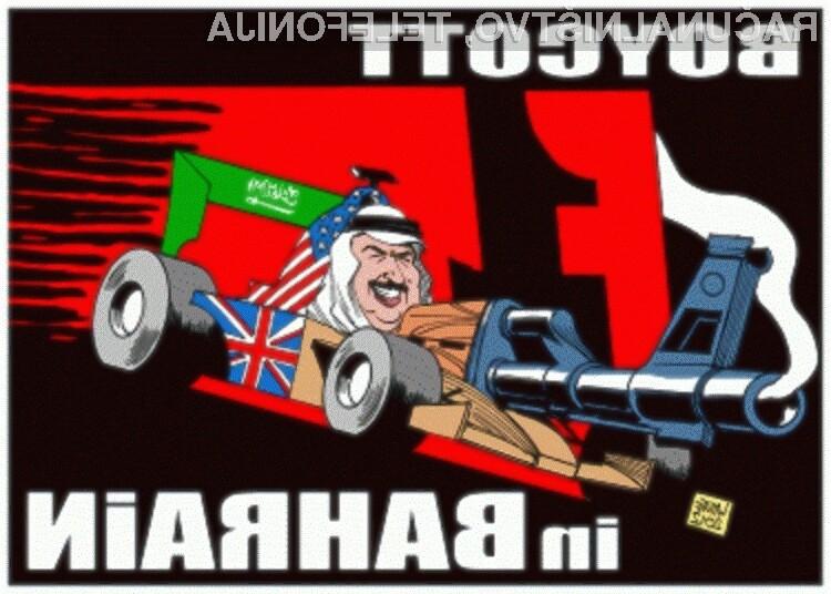 Anonymous bo z napadi nadaljeval vse dokler vodstvo formule 1 ne bo priznalo zmote izpeljave dirke v Bahrajnu!