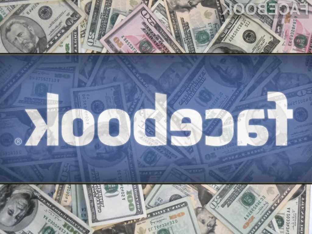 Vrednost Facebooka se je pred kratkim povzpela na 104 milijarde ameriških dolarjev.