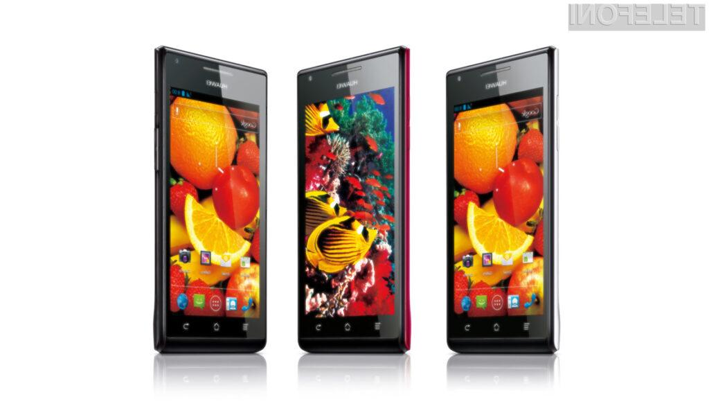 Na pametne mobilnike Huawei (na sliki Ascend P1 S) bo treba v prihodnosti resno računati!