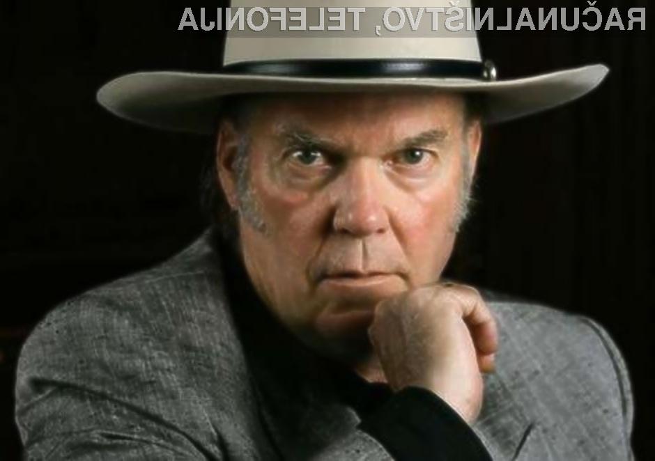 Rokerski veteran Neil Young bo naredil vse, da bo glasbeni format mp3 dobil dostojnega naslednika.