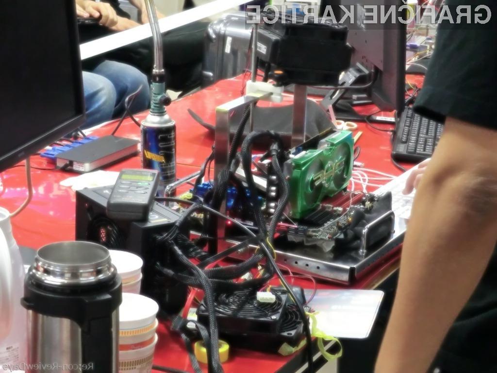 Tekoči dušik je procesor grafične kartice ohladil na -145 stopinj Celzija.