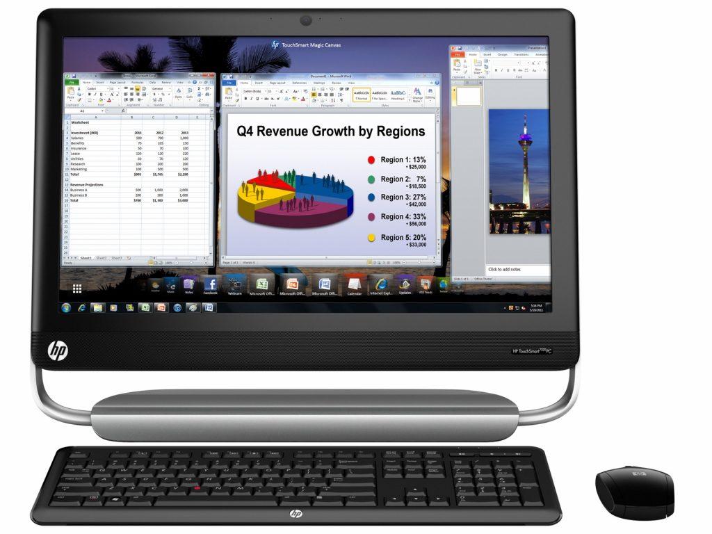 HP Touch Smart Elite 7320 All-in-one zaslon na dotik