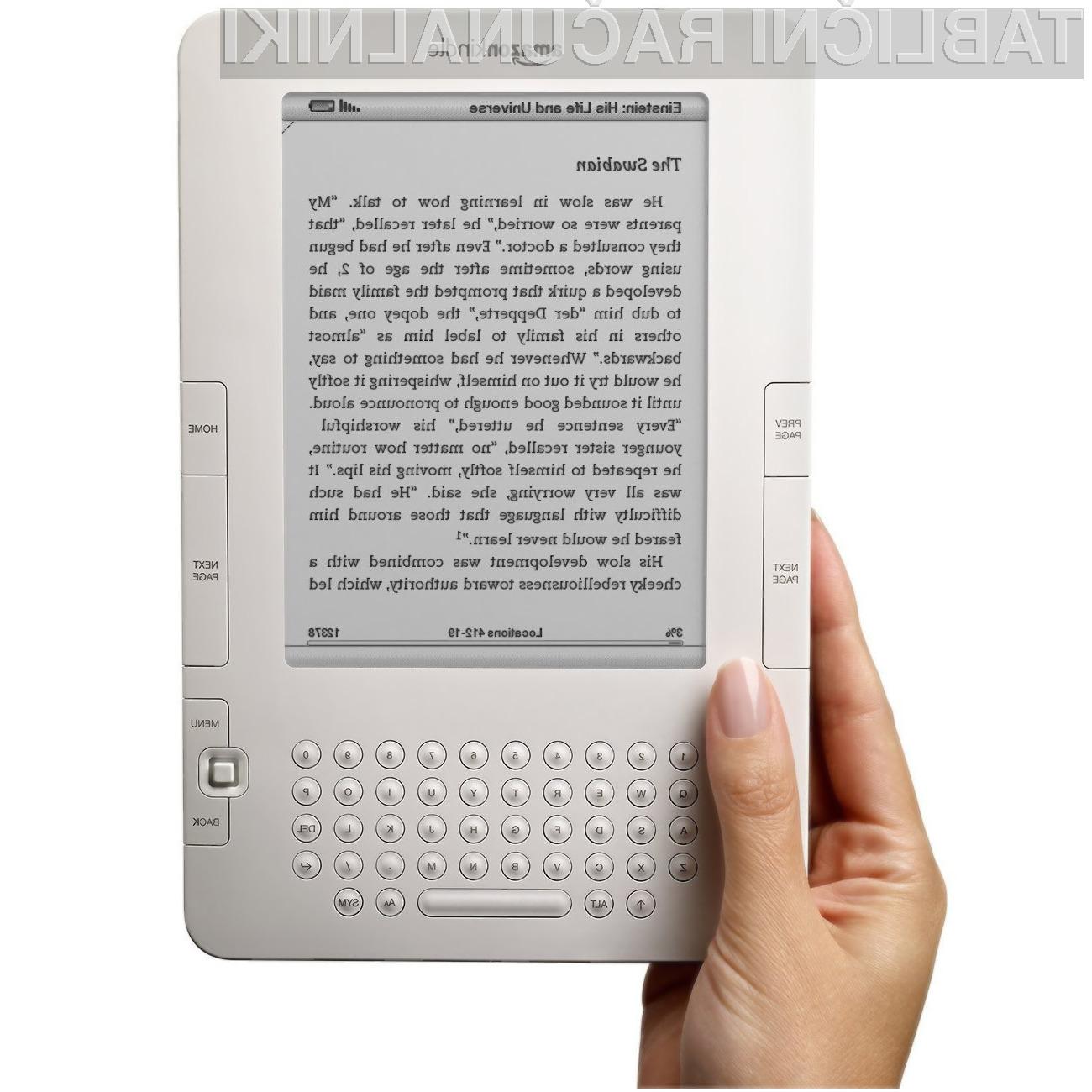 Amazonov bralnik elektronskih knjig naj bi kmalu dobil barvni zaslon.