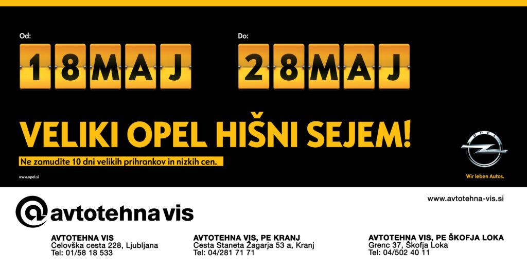 Veliki Opel hišni sejem - od 18. do 28. maja!