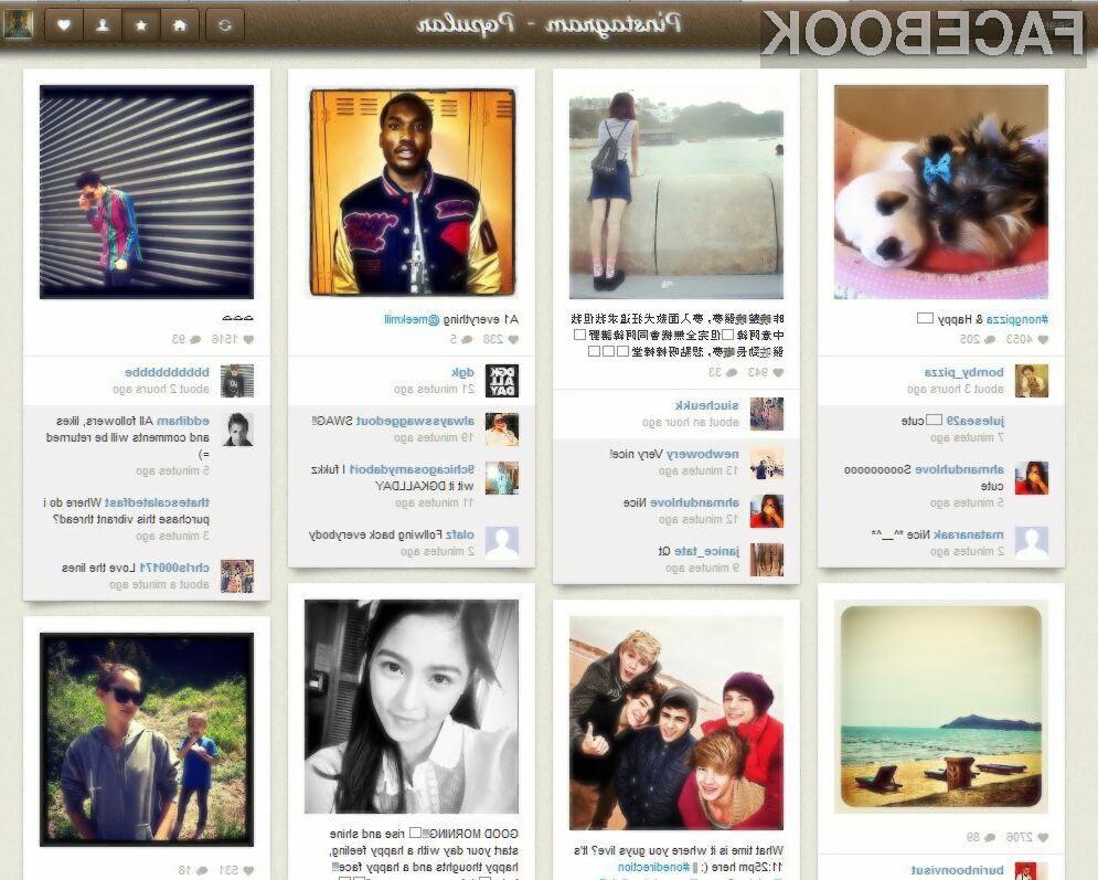 Pinstagram je inovativen spletni servis, ki je združil Instagram in Pinterest v skupno celoto.