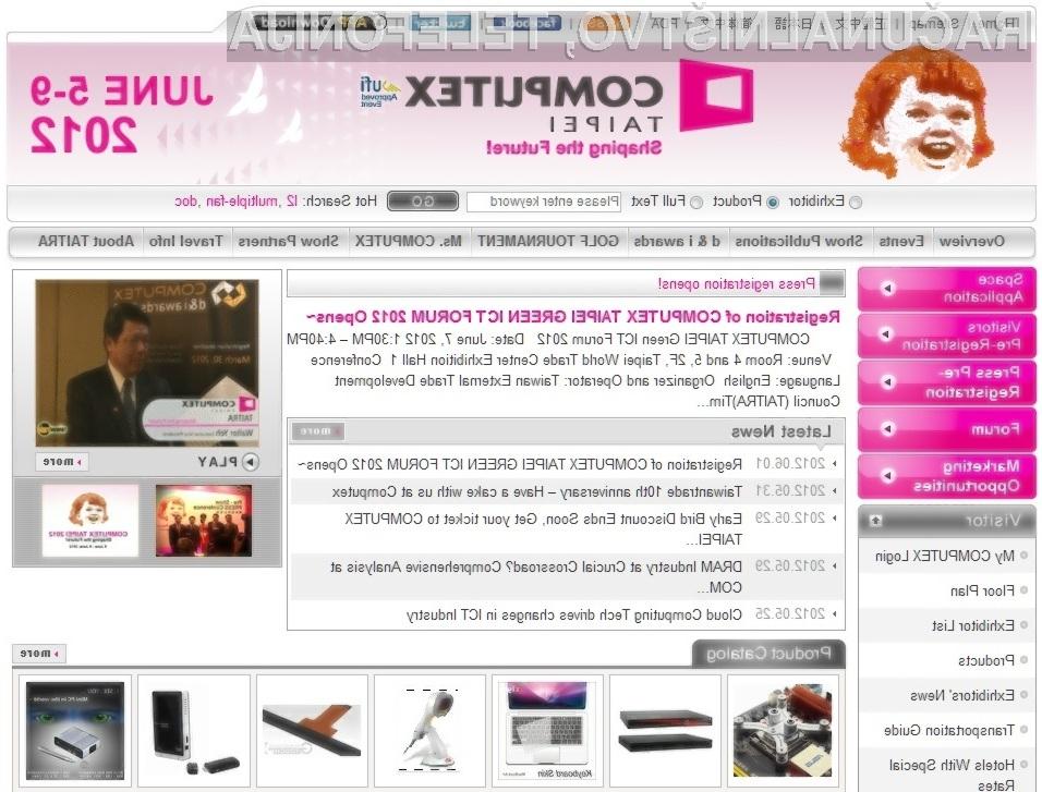 Na računalniškem sejmu Computex 2012 se bo trlo novosti s področja računalništva in mobilnih naprav!