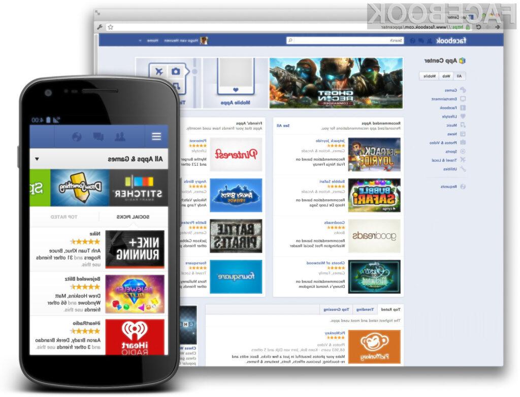 Svojo spletno trgovino z aplikacijami je prestavil tudi družbeni gigant Facebook.
