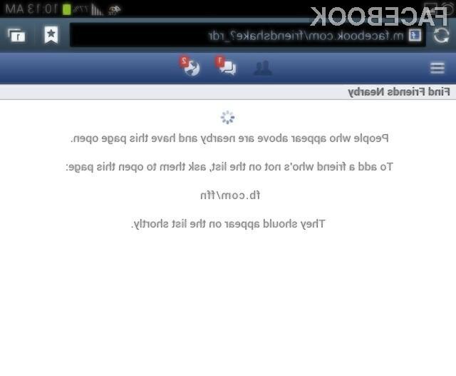 Facebook je funkcionalnost za iskanje bližnjih prijateljev umaknil po le nekaj dnevih preizkušanja.