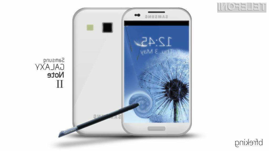 Samsung Galaxy Note II naj bi se že kmalu znašel na prodajnih policah.