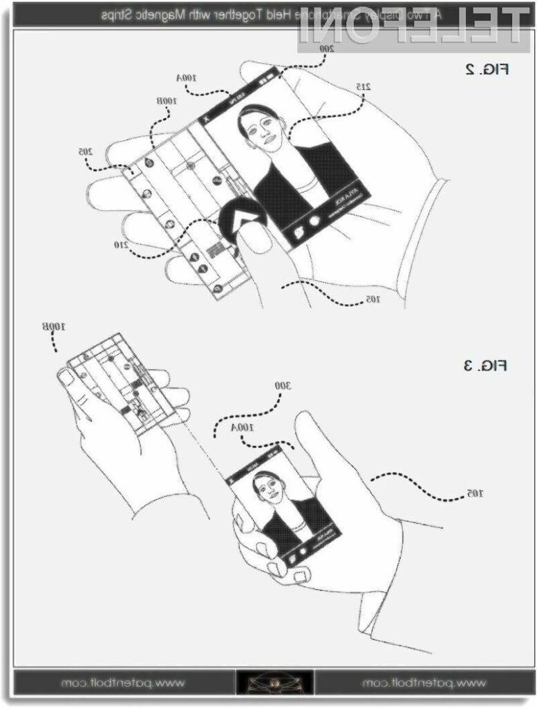 Bomo kmalu dobili pametne telefone z dvema zaslonoma?
