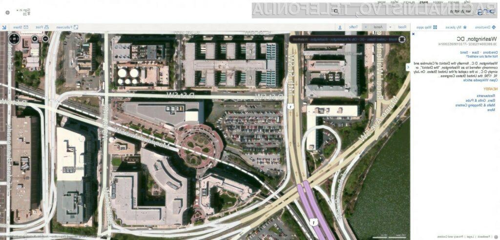 Skupna baza satelitskih in drugih slik Bing Maps danes znaša vrtoglavih 294 TB.